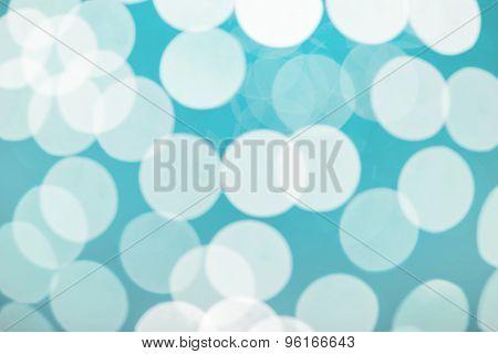 Soft blue bokeh
