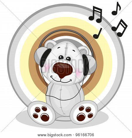 Polar Bear With Headphones