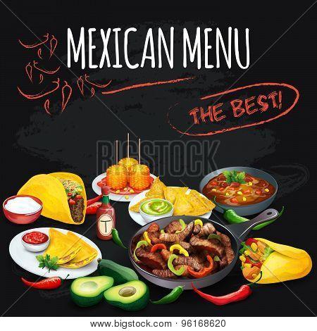 Mexican menu.