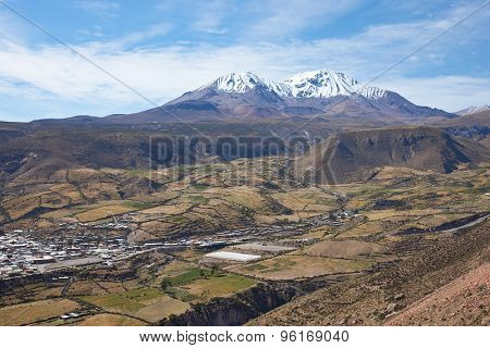 Small Town in the Chilean Altiplano