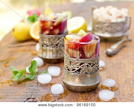 Refreshing drink - sangria