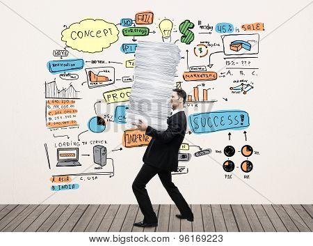 Businessman Holding Paper