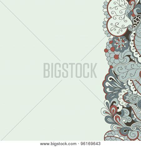 Mehendi card tracery handmade, natural mood