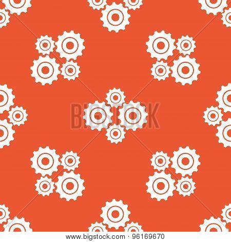 Orange cogs pattern