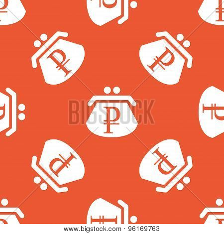 Orange ruble purse pattern