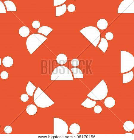 Orange contacts pattern