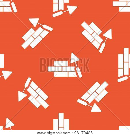Orange building wall pattern