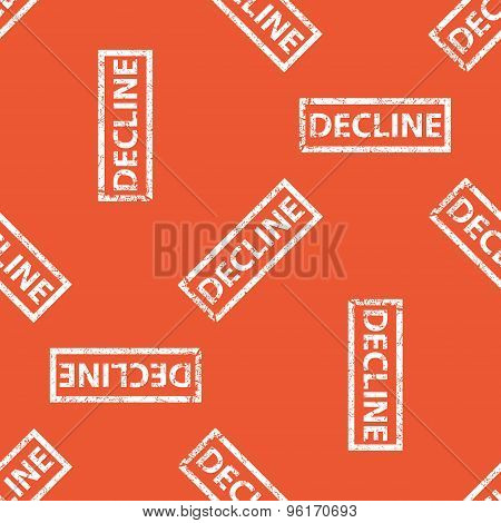 Orange DECLINE stamp pattern