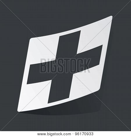 Monochrome plus sticker