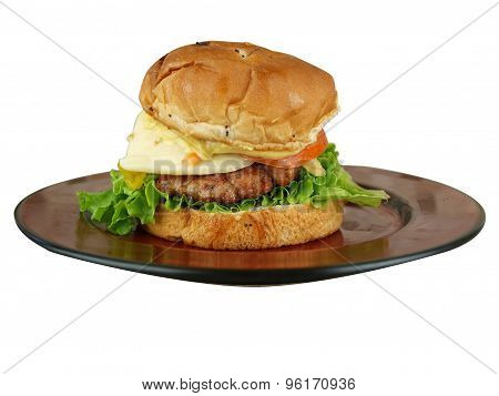 Burger On Bun4 Isolated