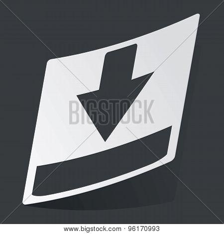 Monochrome download sticker