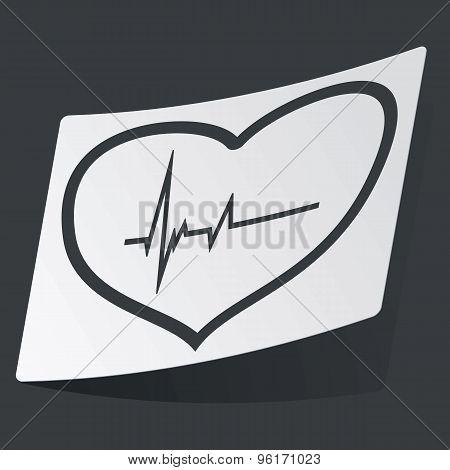Monochrome cardiology sticker