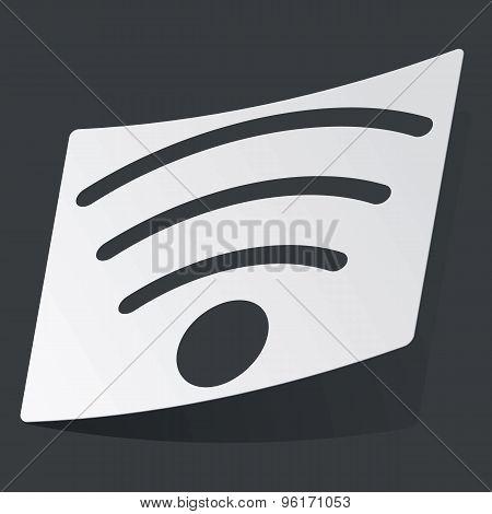 Monochrome Wi-Fi sticker