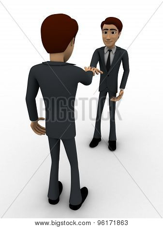 3D Man Doing Shaking Hand Concept