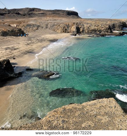 Tropical Waters Between Cliff
