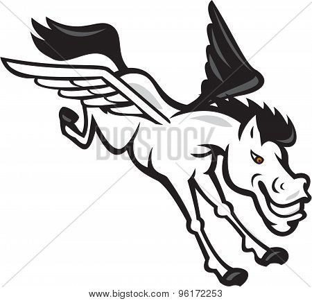 Pegasus Flying Horse Cartoon
