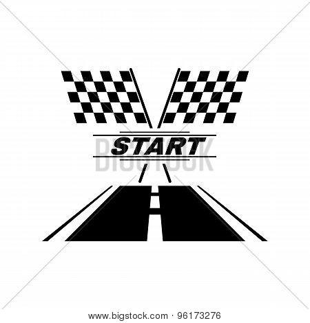 The start icon. Start symbol. Flat