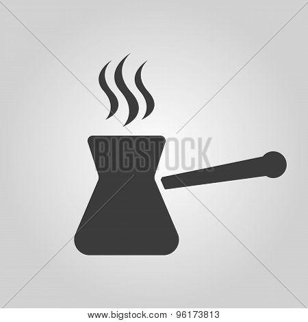 The turk icon. Coffee symbol. Flat