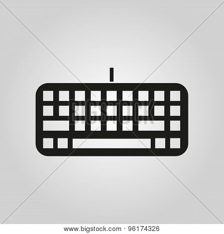 The keyboard icon. Keypad and input, typing, communication symbol. Flat