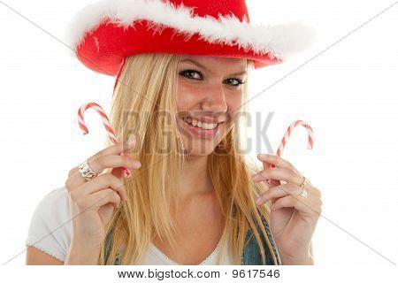 Blonde Christmas Girl