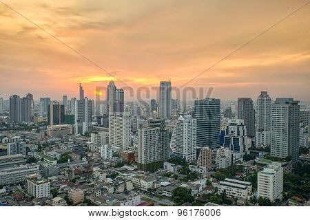 Cityscape In Middle Of Bangkok,thailand