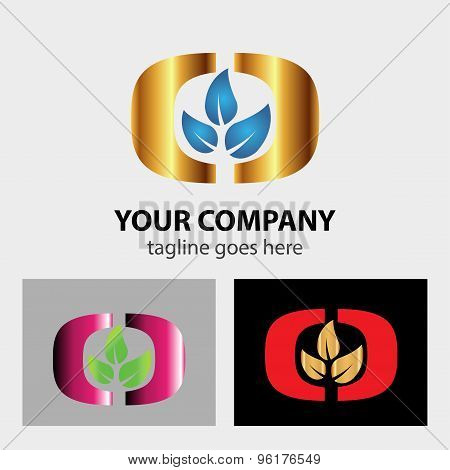 Three leaf logo. Three leaf logo design vector