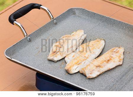 Fillets Fish Grilled
