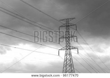 High Voltage Post High-voltage Tower