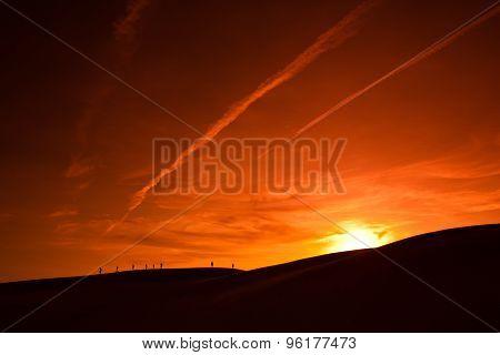Desert and sunset.