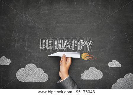 Be happy concept