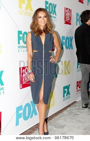 SAN DIEGO, CA - JULY 10: Lesley-Ann Brandt arrives at the 20th Century Fox/FX Comic Con party at the Andez hotel on July 10, 2015 in San Diego, CA.