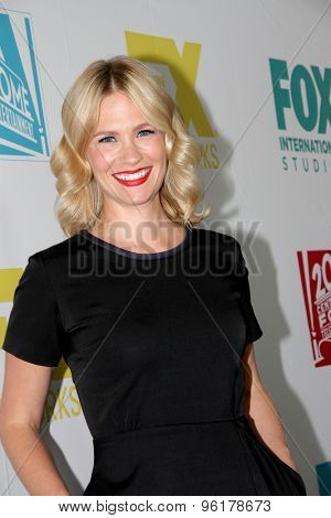SAN DIEGO, CA - JULY 10: January Jones arrives at the 20th Century Fox/FX Comic Con party at the Andez hotel on July 10, 2015 in San Diego, CA.