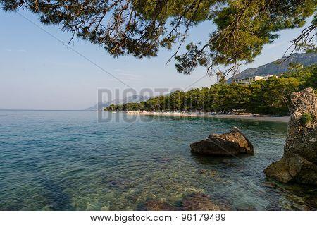View of  Brela, Makarska Riviera, Dalmatia, Croatia.