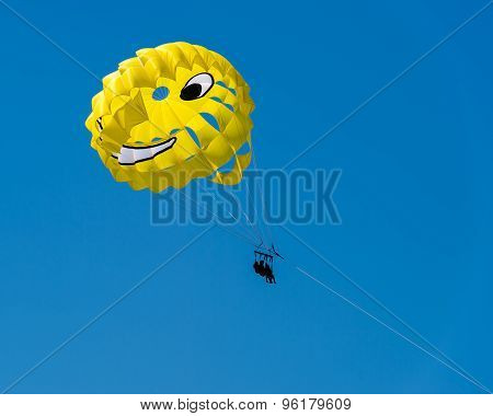 Parasailing - Adriatic sea.