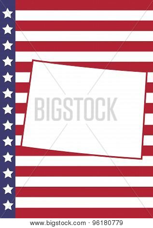 Colorado Cover Page Vector Design. Usa Flag On Background.