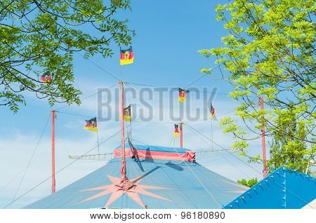 Circus Tent With Flags