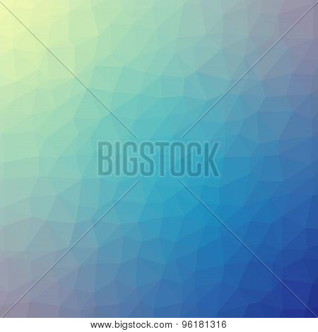 Blue Polygonal Mosaic Background, Vector Illustration, Creative Business Design Templates