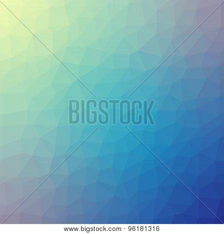 Blue Polygonal Mosaic Background, Vector Illustration, Creative Business Design Templates