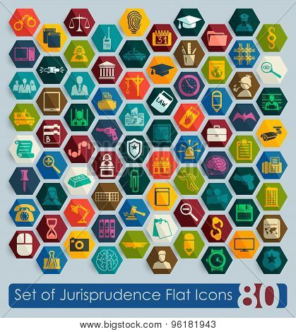 Set of jurisprudence icons