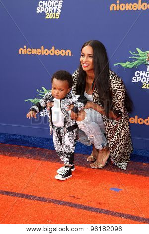 LOS ANGELES - JUL 16:  Future Zahir Wilburn, Ciara at the 2015 Kids' Choice Sports at the UCLA's Pauley Pavilion on July 16, 2015 in Westwood, CA