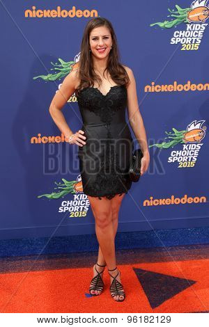 LOS ANGELES - JUL 16:  Carli Lloyd at the 2015 Kids' Choice Sports at the UCLA's Pauley Pavilion on July 16, 2015 in Westwood, CA