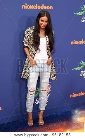 LOS ANGELES - JUL 16:  Ciara at the 2015 Kids' Choice Sports at the UCLA's Pauley Pavilion on July 16, 2015 in Westwood, CA