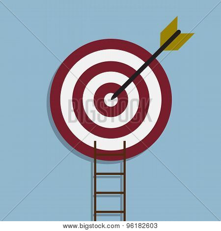 Target With Arrow And Ladder