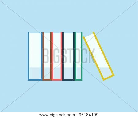 Books stack vector icon isolated. School objects, or university and college symbols. Stock design elements.