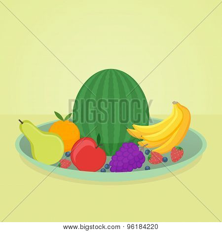 fruits in plate
