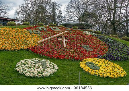 Flower Clock, Geneva, Switzerlad