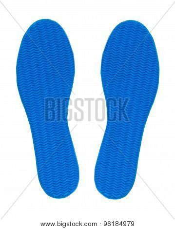 Blue Rubber Sole Shoe