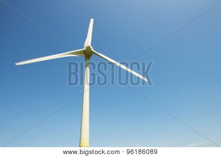 powerful and ecological energy concept .Industrial wind installation