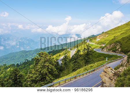 Scenic of Mountain on heaven above the ground. Good background