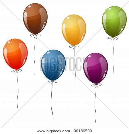 Colored Flying Balloons